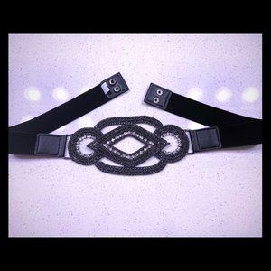 Glitzy fashion waist belt